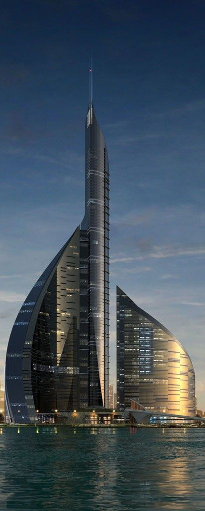 Dubai Towers, Jeddah, Saudi Arabia :: 82 floors, height 360m [Future Architecture: http://futuristicnews.com/category/future-architecture/]                                                                                                                                                     More