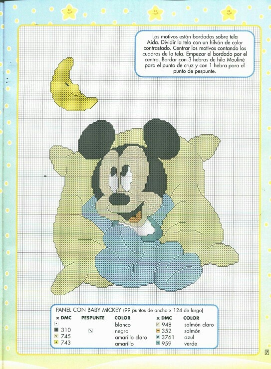 Baby Mickey cross stitch