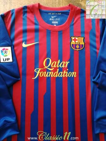 ae4c60c70 Official Nike Barcelona home long sleeve football shirt from the 2011 12  season. Complete with La Liga patch on the sleeve.