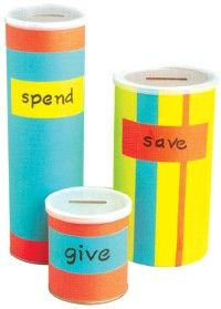 Spend, Save, Give....I love this as an idea (got it from a lady at Bible study).