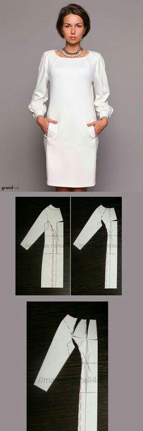 Patrón para diseñar un vestido elegante. #vestido #patrón #molde #chic