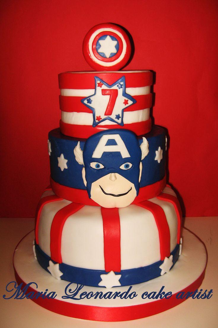 capitan america cake