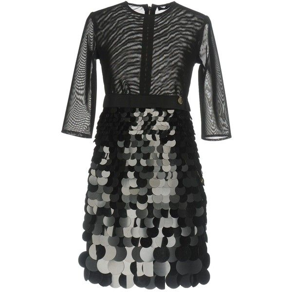 Mangano Short Dress ($205) ❤ liked on Polyvore featuring dresses, black, sequined dress, sequin tube dress, tube dress, sequin embellished dress and mini tube dress