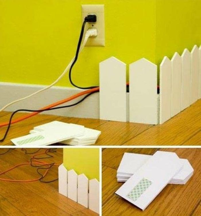 20 Kreative Deko Ideen, wie Sie lästige Kabel verstecken können