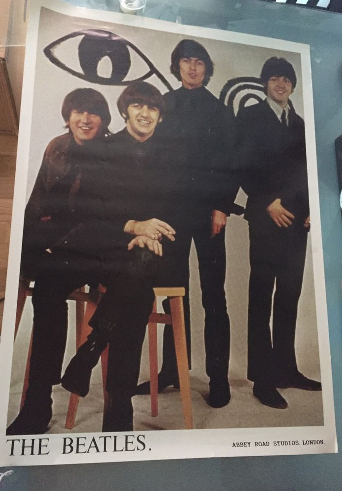 The Beatles Band Abbey Road Studios London England Vtg 1960s Poster 24 X 36  | eBay