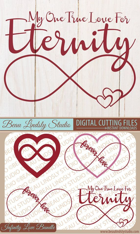 Infinity Love Sign SVG Cutting File Bundle, Infinity Sign, SVG File For Silhouette Pattern, SVG File For Cricut Projects, SVG Format File, DXF File, PNG Image File. Valentines Day Decorations can be made with the Cutting Files. The PNG Files are perfect for Valentines Day Clip Art or Love Clip Art or make a wonderful Valentine's Day Gift, such as a Love Vinyl Wall Decal, Valentines Day Card, Coffee Mug, DIY T Shirt and large variety of personalized items. By: http://www.beaulindslystudio.com