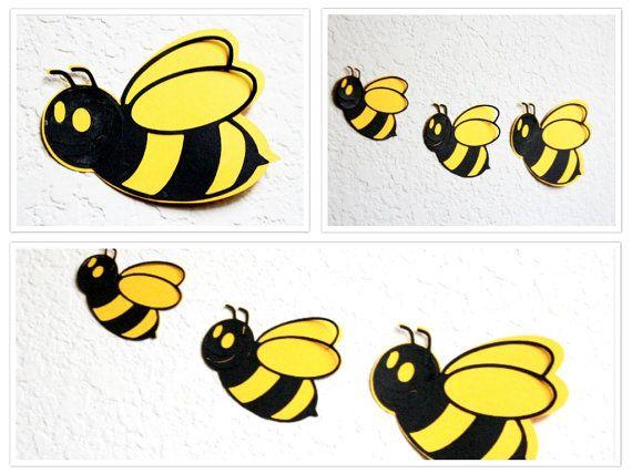 Bee Wall Art Honey Baby Room Decor By MyDreamDecors