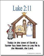 Memory Verse Helps-Luke 2:11