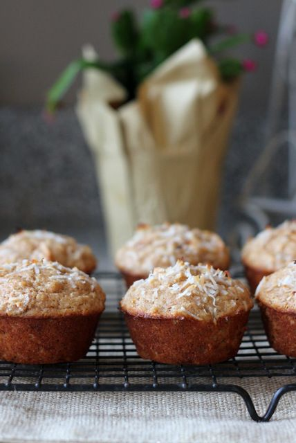 Coconut Banana Muffins - A Hint of Honey