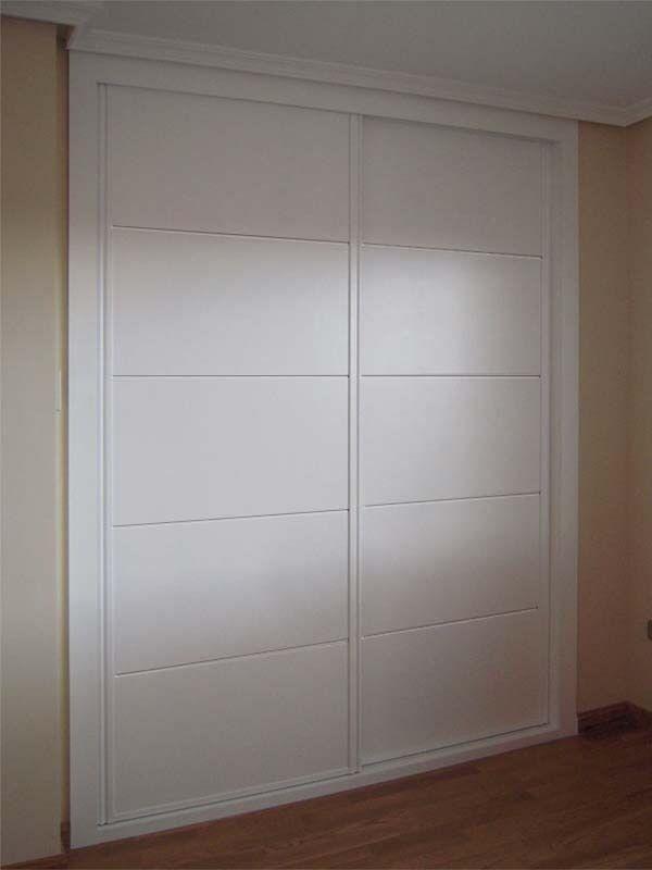 Frentes de armario lacados en blanco
