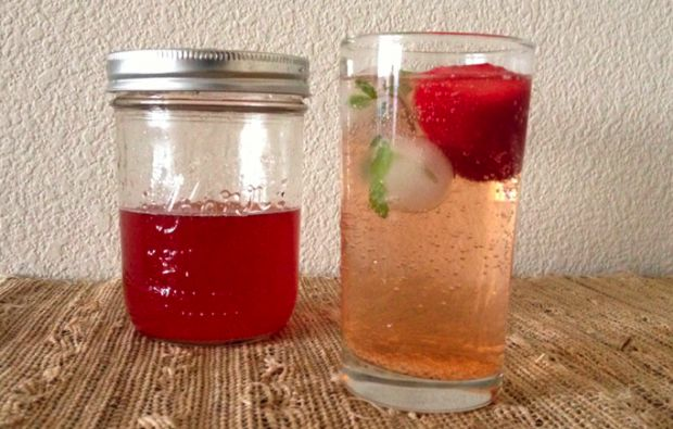 Strawberry Black Pepper Shrub Recipe: Using white balsamic vinegar ensures that your rum cocktail won't be a murky brown color, gives drink fruity but not overly sweet flavour