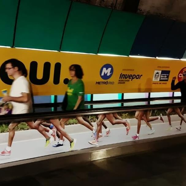 Test driving my stride length for the 2020 Olympics #rio2016 #metro #movingart…