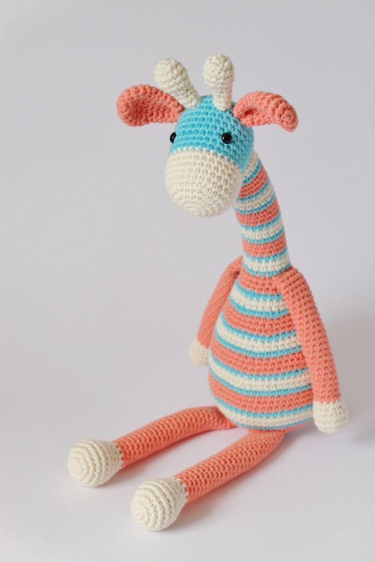 Amigurumi Crochet Giraffe Stuffed Toy Plush Childrens Ready To Ship by KornflakeStew on Etsy