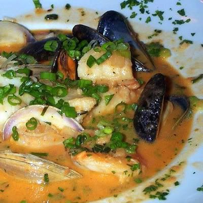 Bouillabaisse a la Marseillaise......based on Julia Child's recipe, whch I have made and is delicious.