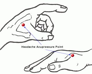 acupressure points for common pains headache  migraine