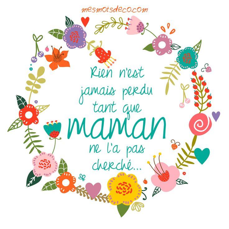 mesmotsdeco.com fête des mères, #motherday #maman #fetedesmeres #citation et bons mots