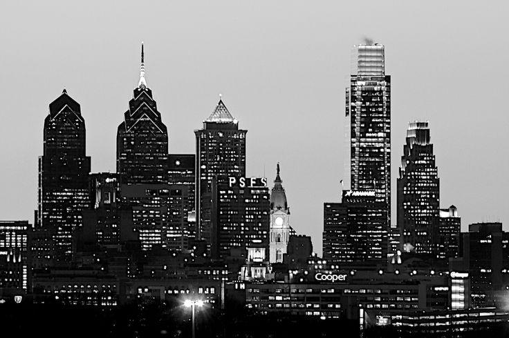 philadelphia skyline pictures | Philadelphia Skyline in Black and White