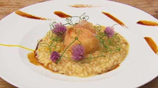 Parmesan risotto with poached egg