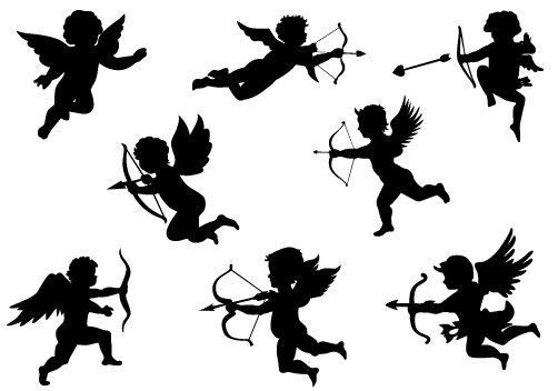 Valentine's Day Cupid Vector DownloadSilhouette Clip Art