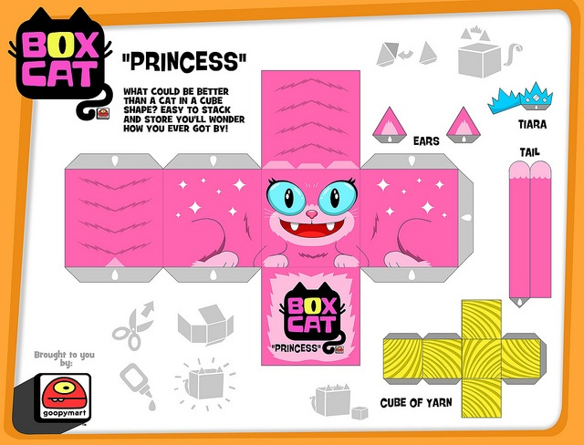 box cat-princess