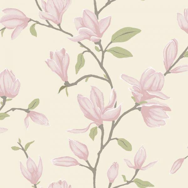 Vacker magnolia från kollektionen Manor House 347050. Klicka för att se fler inspirerande tapeter för ditt hem!