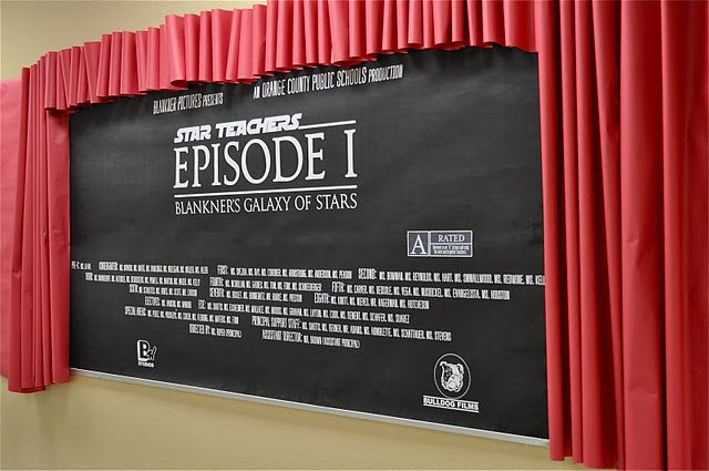 Star Teachers Theatre Display...Totally want to do this as a bulletin board.
