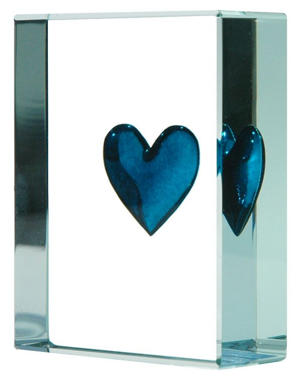 Exclusive Turquoise Heart Token, Spaceform Glass Tokens, London.