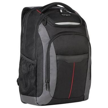 Targus Gravity 15.6 Laptop Backpack, Black/Gray with Red Stripe X278-349372