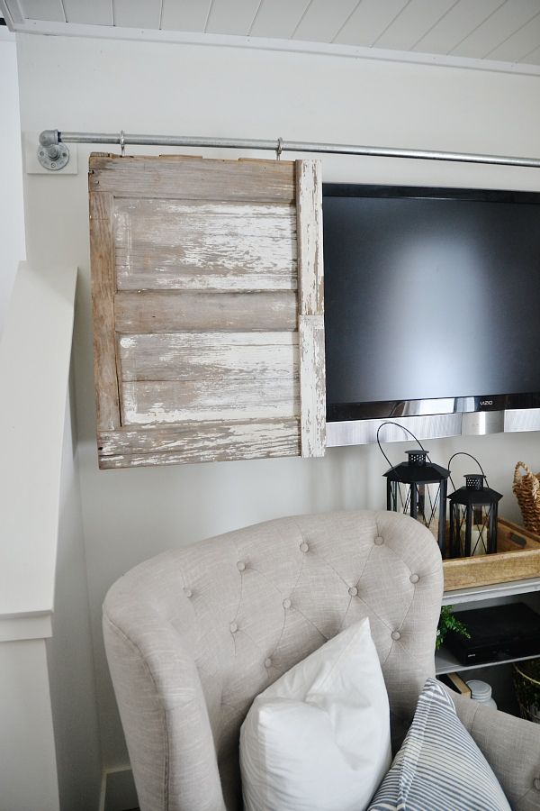 Industrial Pipe Sliding Barn Door Tv Cover Barn Doors
