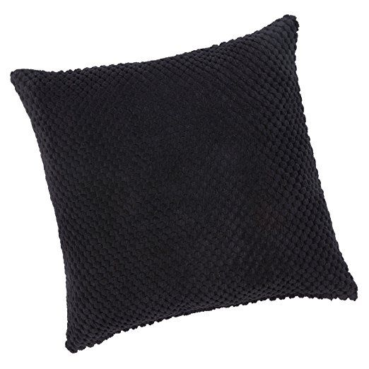 Chenille Spot Black Cushion Cover 20inx20in (50cmx50cm) Approximately By Hamilton McBride