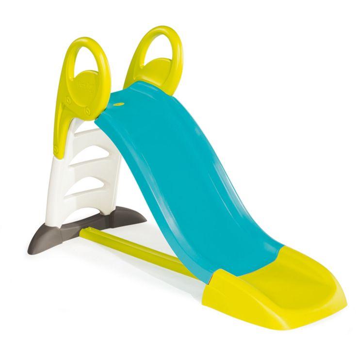 Smoby Rutschkana My Slide Blå & Grön är en snygg rutschkana som är perfekt att leka med i trädgården. Kanan är 1,5 meter lång, är målad i härliga färger och har ett anti-UV-skydd. Den kan även spruta vatten i toppen av rutschkanan så att du kan glida ner för en liten vattenrutschkana! Se fram emot jätteroliga utelekar med dina vänner! <br><br>Rekommenderad ålder: Från 2 år.<br><br>Mått: 159 x 68 x 100 cm. <br>