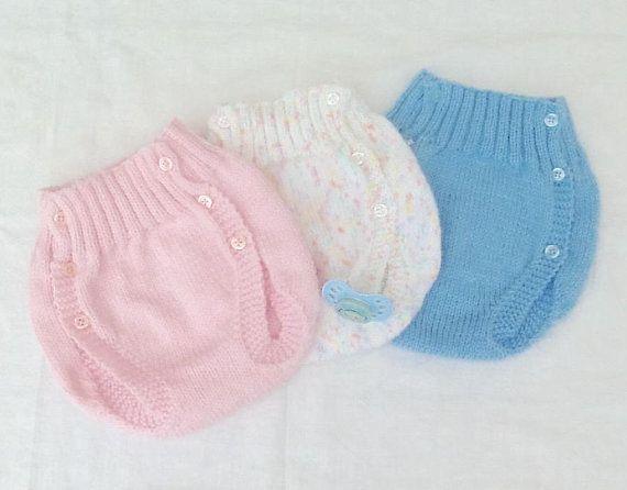 Culotte Bebe 6 9 Mois Laine Tricot Cache Couche Couvre Couche Layette Knit Baby Pants Baby Pants Unique Items Products