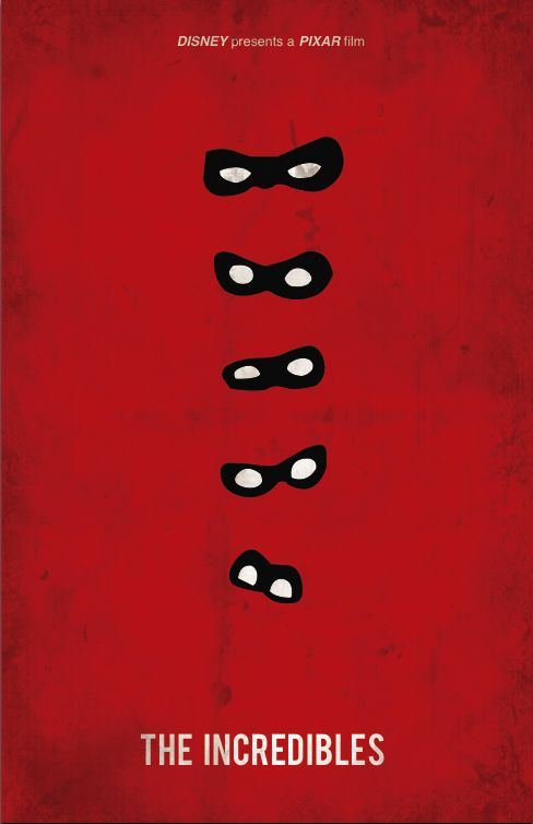"""The Incredibles (2004) - Minimal Movie Poster by Jacquelyn Halpern"""