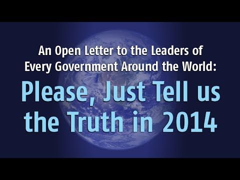 Stephen Cook: An Open Letter to Leaders Around the World. Please, Just Tell Us the Truth in 2014!
