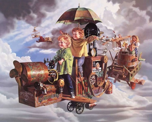*Flight Of The Angels....Bob Byerley: Flight, Bobs, Byerley 1941, Bob Byerly, Children, Artist, Angels, Art Bob Byerley, Painting