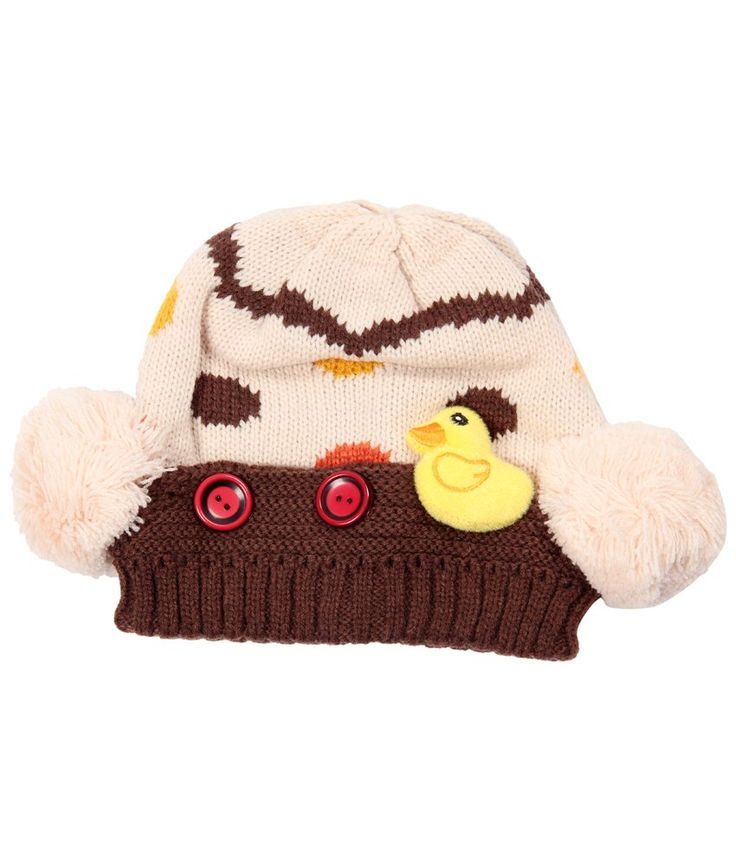Bizarro Gorgeous Beige Woollen Cap For Kids