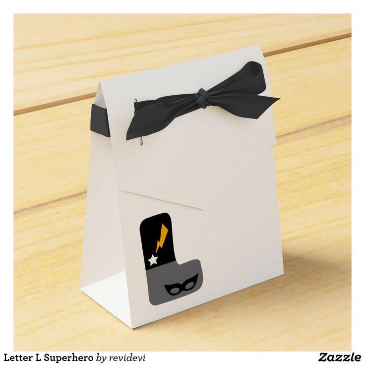 Letter L Superhero Favor Box