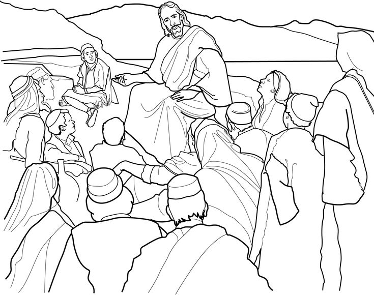 the sermon on the mount coloring page for children from ldsorg primary lessonslds - Coloring Pages Primary Lessons