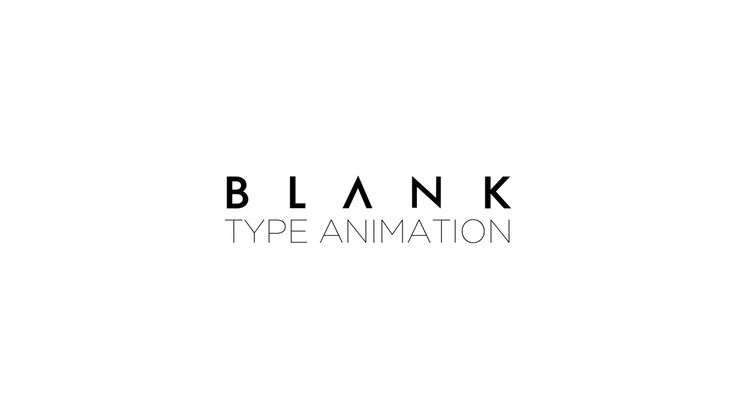 Blank type animation on Vimeo