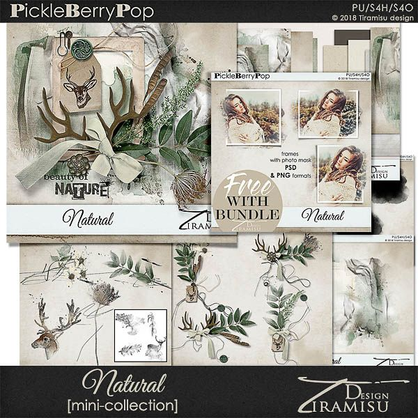 Natural~ Mini Collection plus FREE GIFT by Tiramisu design