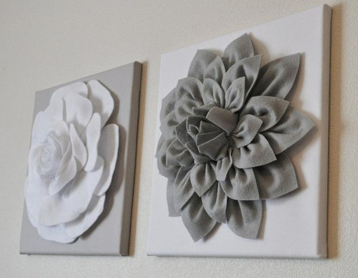 Felt Flowers Wall Decor : Best ideas about flower wall decor on diy
