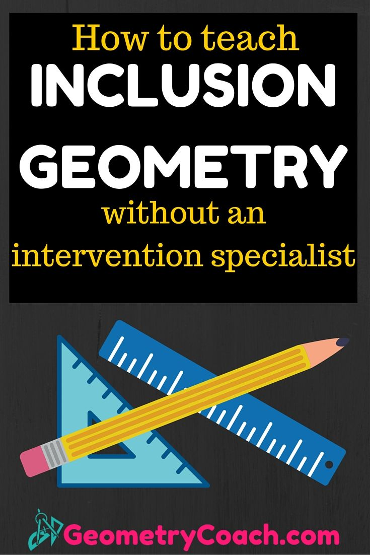 I teach 4 classes like this.   http://geometrycoach.com/teaching-strategies-for-your-inclusion-geometry-class-without-an-intervention-specialist/