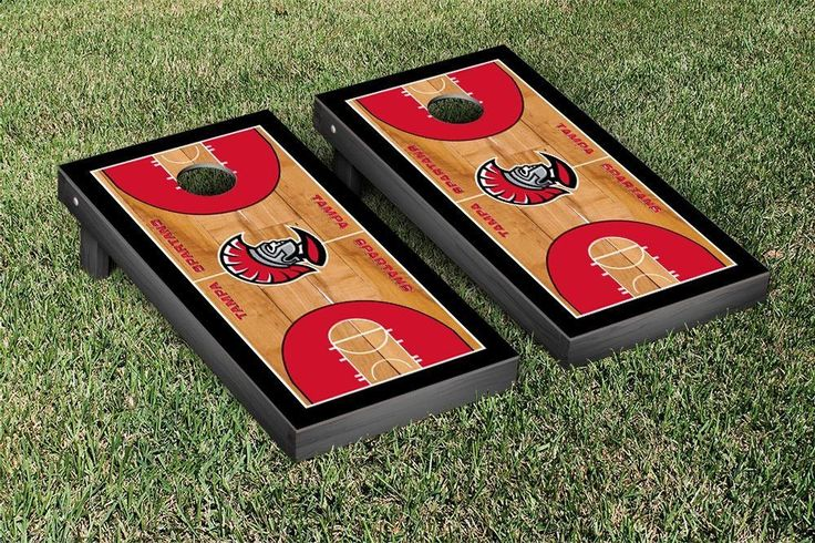 University of Tampa Spartans Basketball Court Cornhole Game Set
