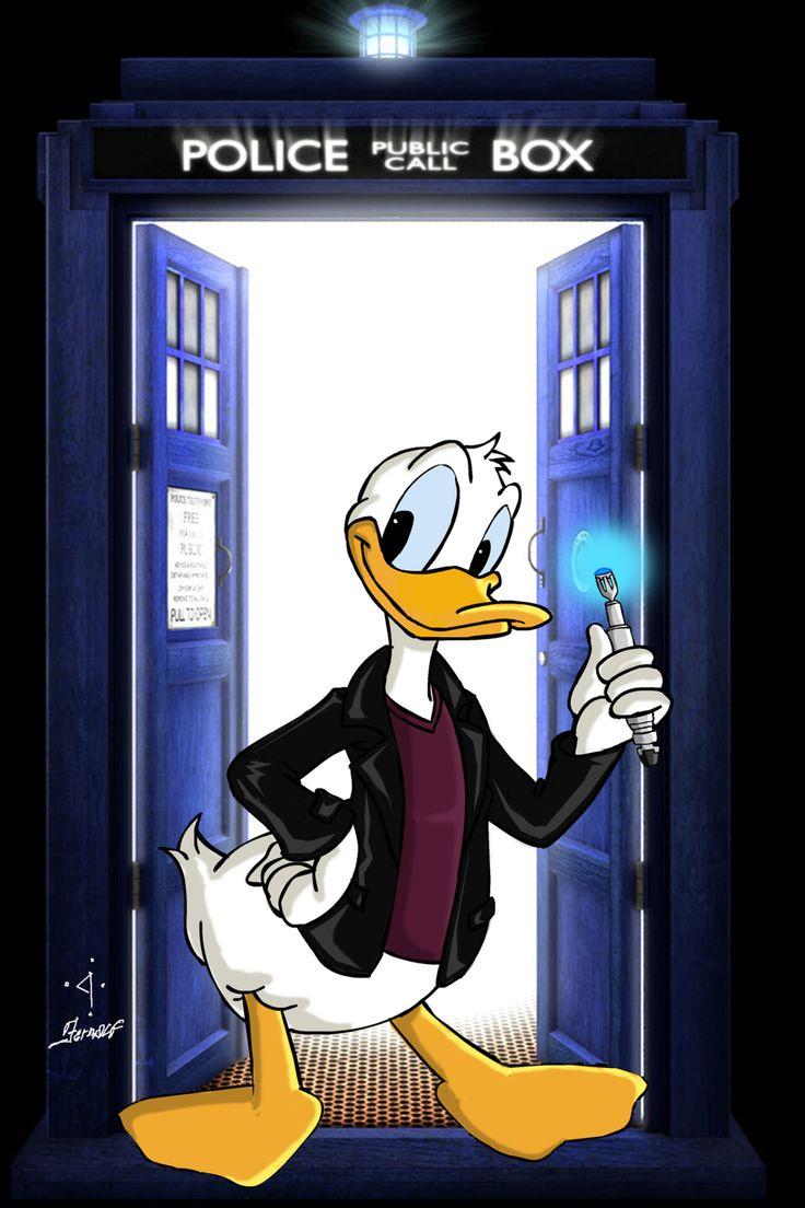 ''Ninth Doctor - Donald Duck'' by fernalf (deviantART)  (Doctor Who - BBC Series)  source: http://fernalf.deviantart.com/art/Ninth-Doctor-Donald-Duck-454260497