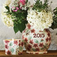 Emma Bridgewater 2015 Year Jug and Candle Pot for Collectors Club 2015 NEW for Spring 2015