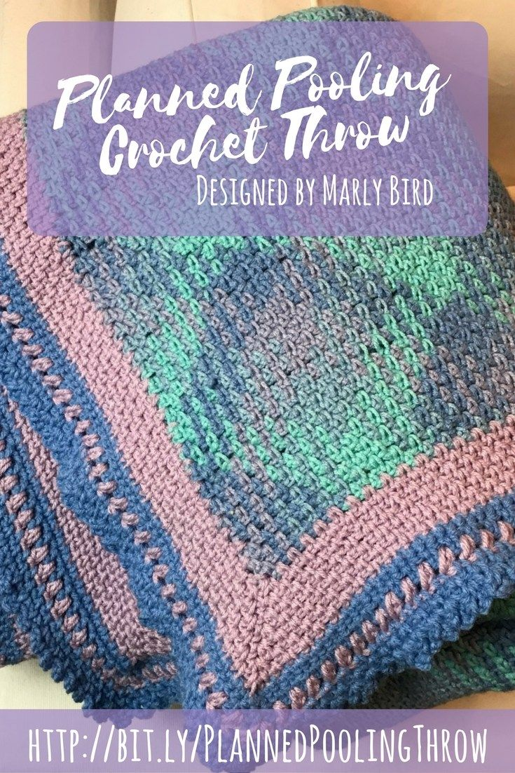 Planned Pooling Crochet Throw Free Pattern