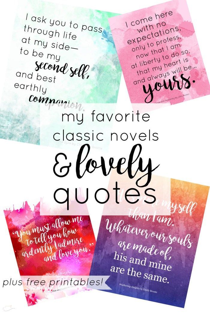 """my favorite classic novels & """"lovely"""" quotes"""