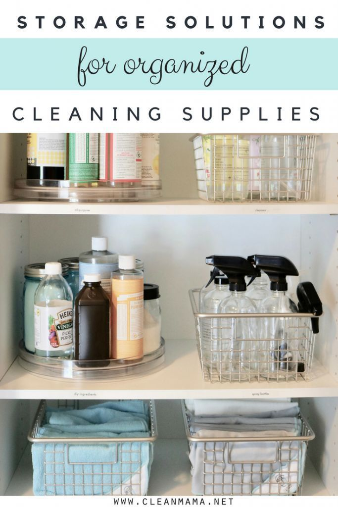 Organized Cleaning Supplies All Sorts Of Useful Ideas Here