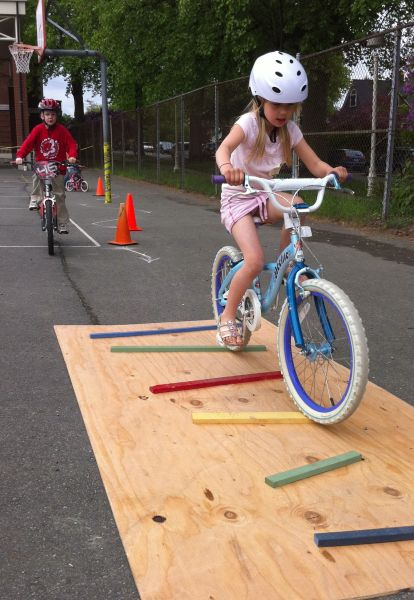 Make this for scouts bike rodeo, obstacle course - Speed Bumps