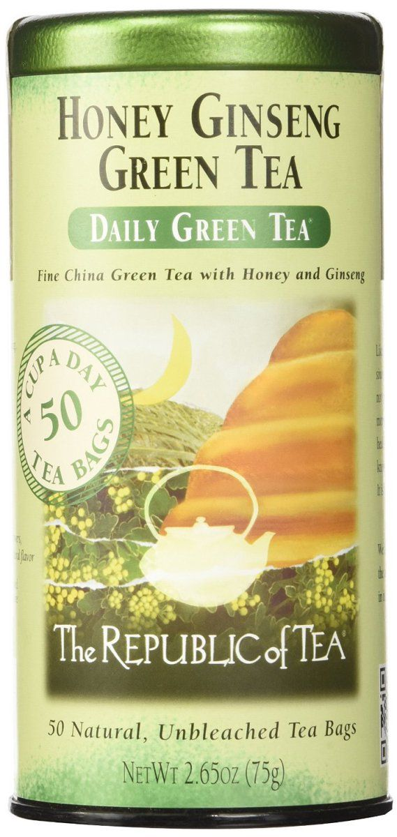 The Republic Of Tea Honey Ginseng Green Tea